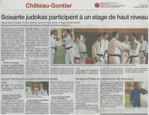 2013-07 Stage de Judo - Eq France Handisport