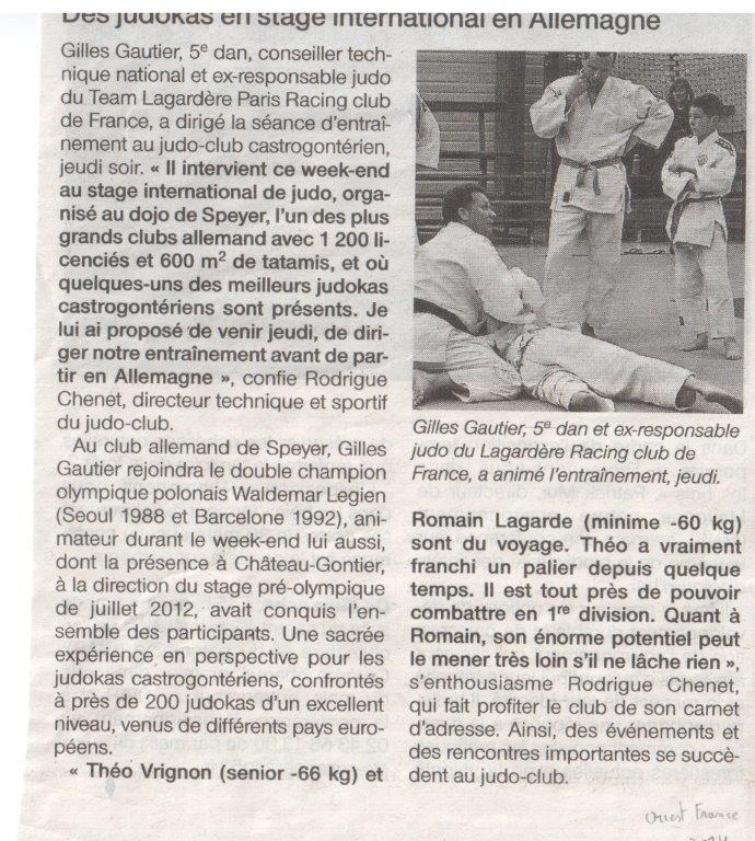 Ouest France 04-03-2014